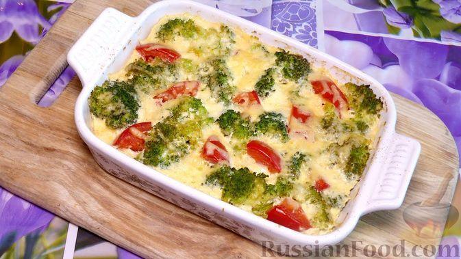 Фото к рецепту: Запеканка с курицей и брокколи