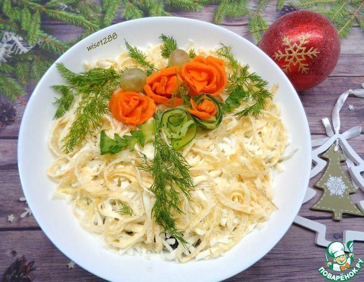 Рецепт: Салат с жареными вешенками