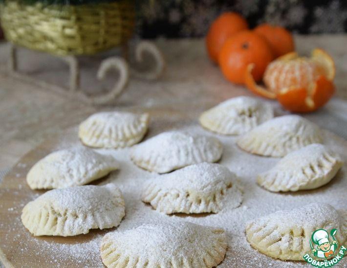 Рецепт: Песочное печенье с мандаринами