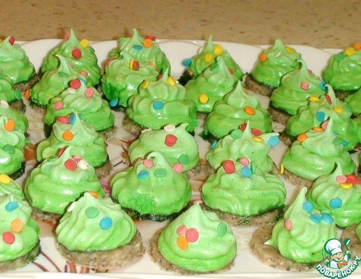 Рецепт: Новогоднее печенье Ёлочки