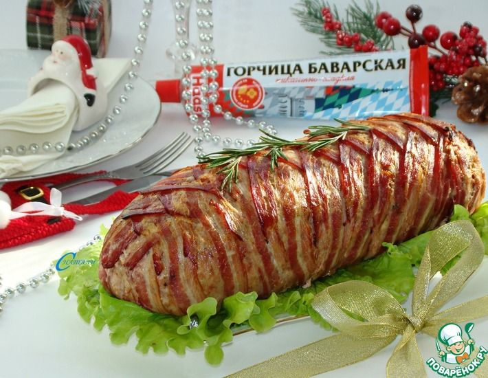 Рецепт: Мясной рулет Праздничный