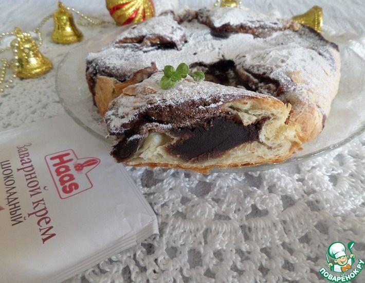 Рецепт: Пирог с шоколадным заварным кремом