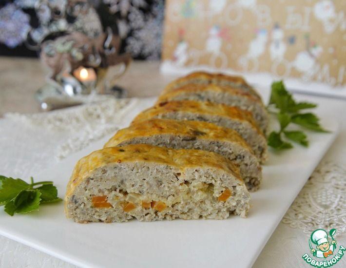 Рецепт: Рыбный рулет с морковью и сыром