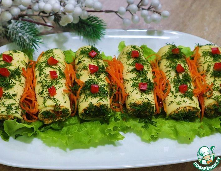 Рецепт: Закуска из корейской моркови и сыра