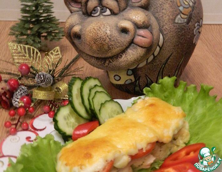 Рецепт: Рыба под шубой с цветной капустой