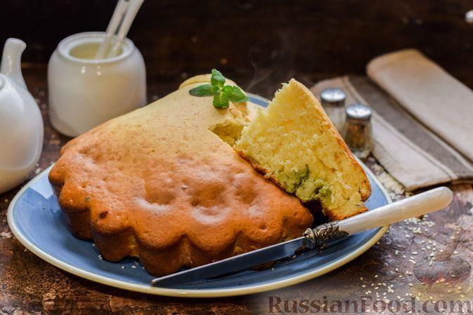 Фото к рецепту: Бисквит с грибами и брокколи