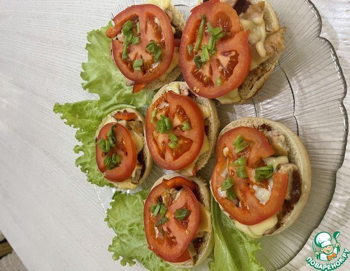 Рецепт: Мини пиццы /Горячая быстрая закуска