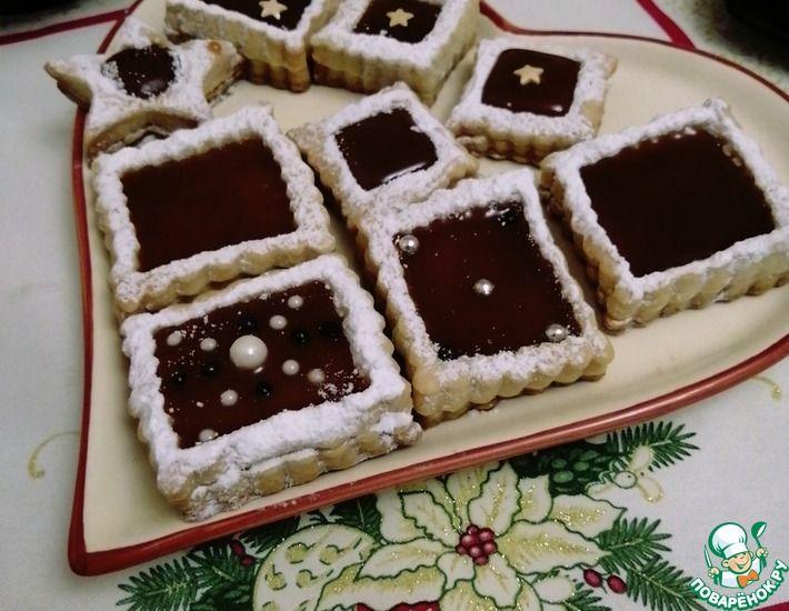 Рецепт: Печенье с карамелью
