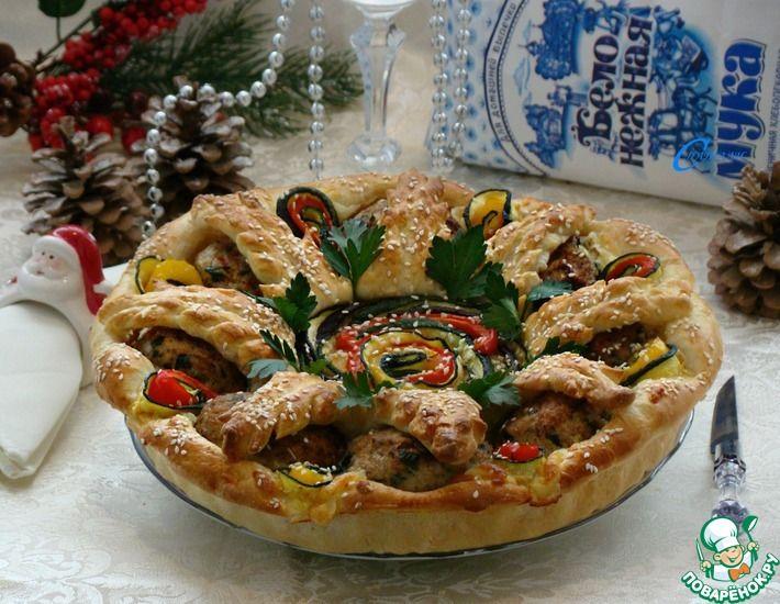 Рецепт: Закусочный пирог С новым годом!