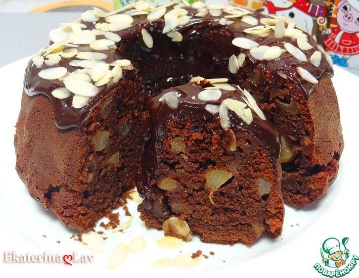 Рецепт: Влажный шоколадный кекс Праздничный