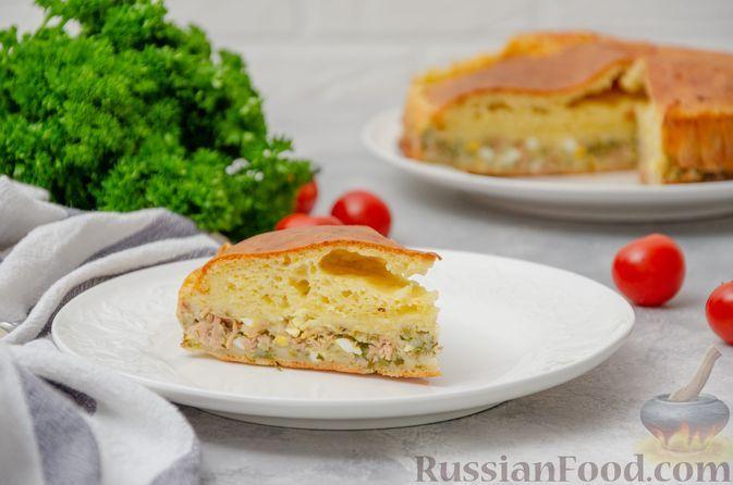 Фото к рецепту: Заливной рыбный пирог на кефире