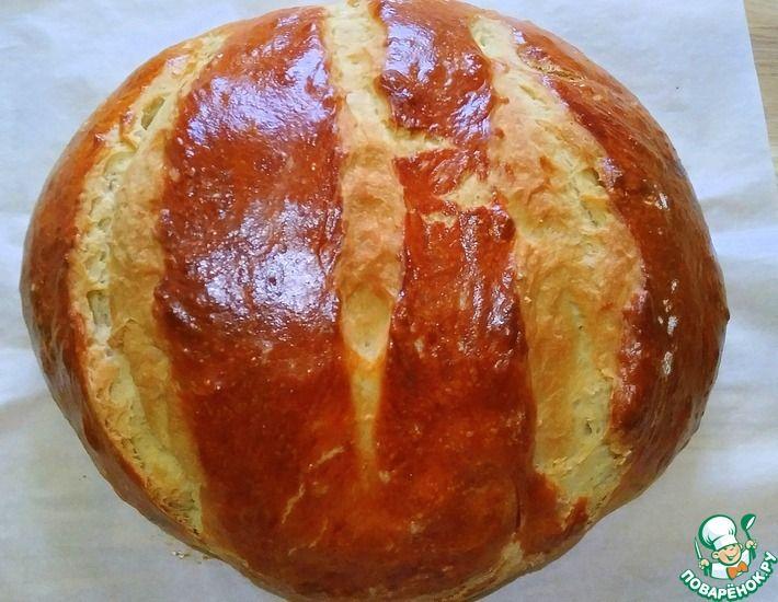 Рецепт: Самый простой домашний хлеб 5 мин