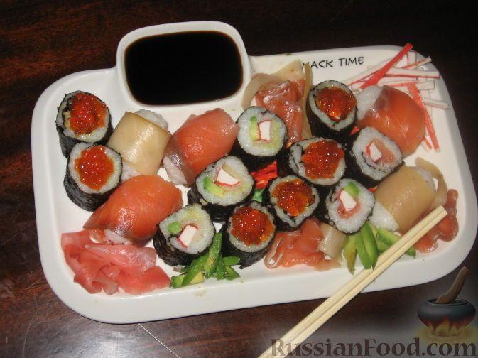 Фото к рецепту: Сашими, суши и роллы