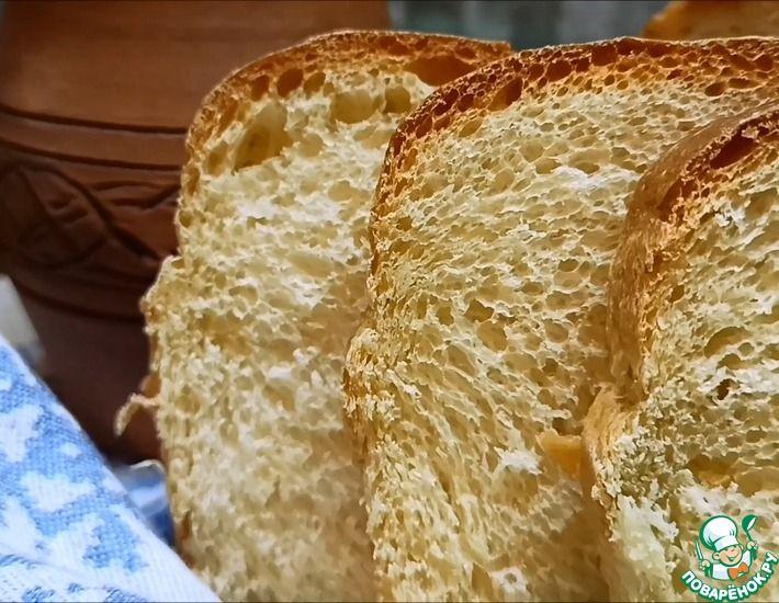 Рецепт: Простой рецепт пшеничного хлеба на сыворотке