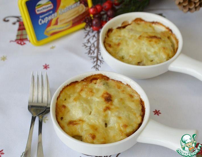 Рецепт: Горбуша, запечённая под сырно-сливочным соусом