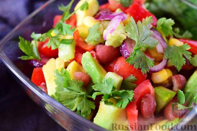 Фото к рецепту: Мексиканский овощной салат