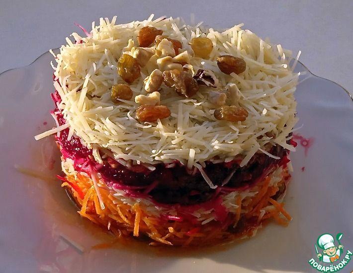 Рецепт: Слоеный салат Изумительный