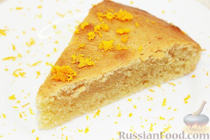Фото к рецепту: Постный апельсиновый манник