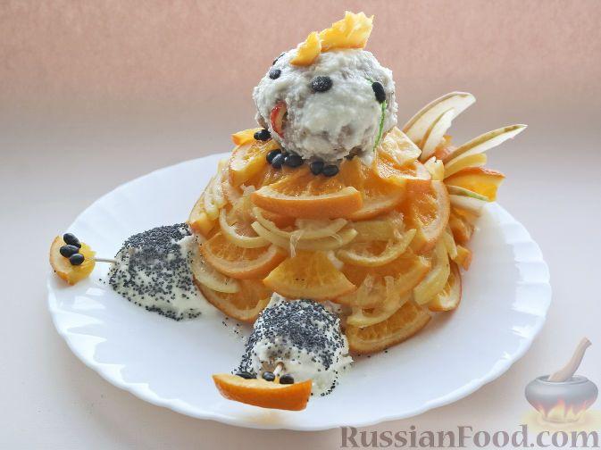 "Фото к рецепту: Торт ""Петушок"" (без выпечки)"