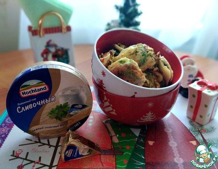 Рецепт: Брокколи в сливочном сырном кляре