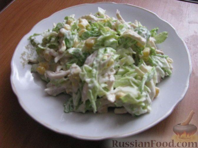 Фото к рецепту: Салат из пекинской капусты с курицей