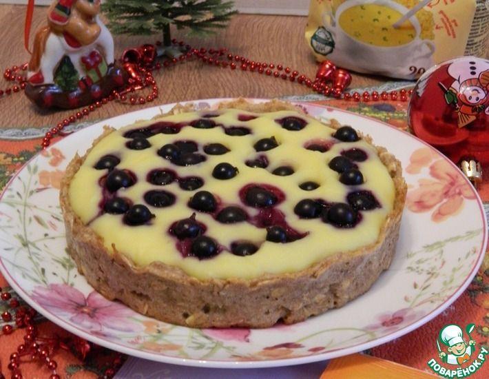 Рецепт: Десерт из цельнозерновой муки с заварным кремом