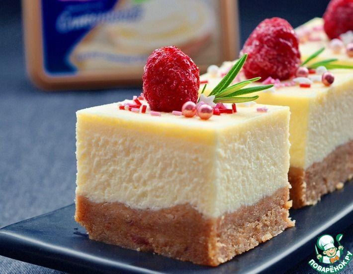 Рецепт: Чизкейк с плавленым сыром