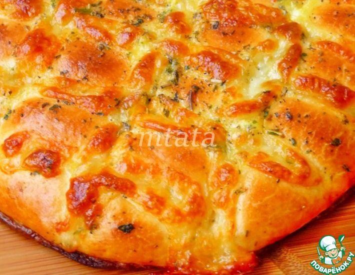 Рецепт: Лепешки с сыром моцарелла