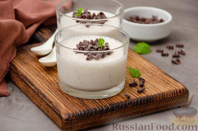 Фото к рецепту: Сметанно-кефирное желе с шоколадом