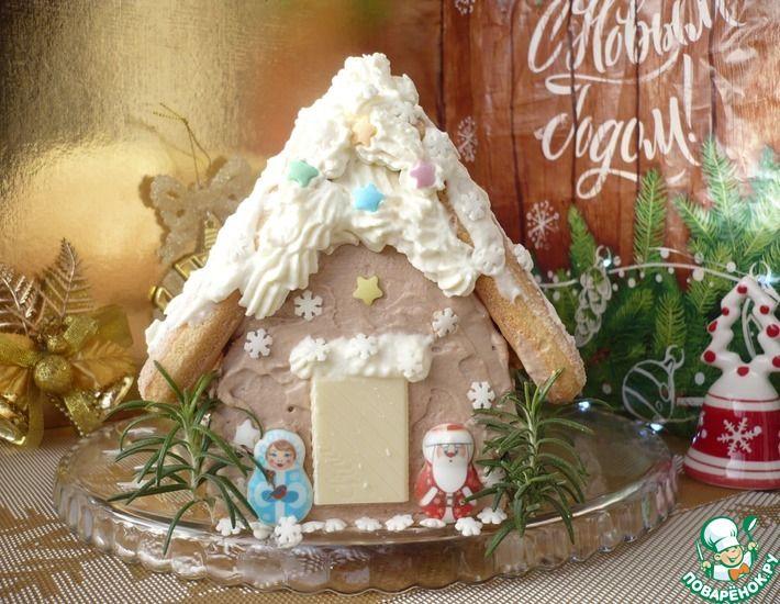 Рецепт: Торт Сказочный домик к новогоднему столу