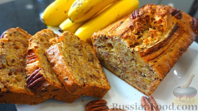 Фото к рецепту: Банановый хлеб с орехами