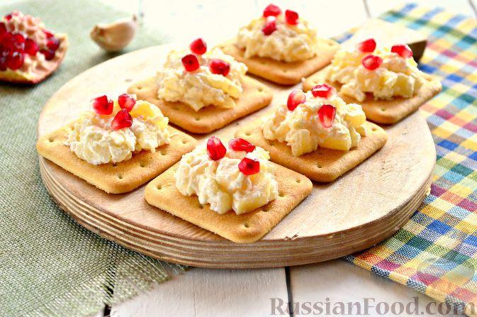 Фото к рецепту: Закуска с ананасами