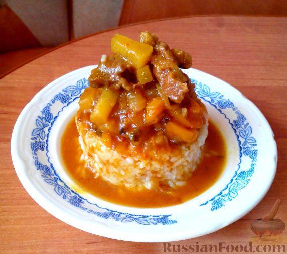 Фото к рецепту: Свинина в кисло-сладком соусе