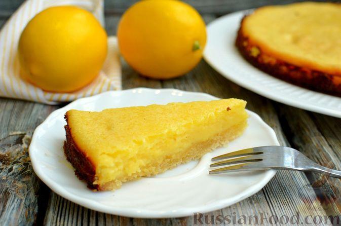 Фото к рецепту: Песочный тарт со сливочно-лимонным муссом
