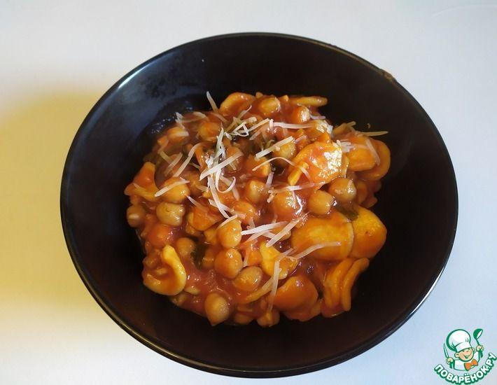 Рецепт: Паста в томатном соусе с нутом