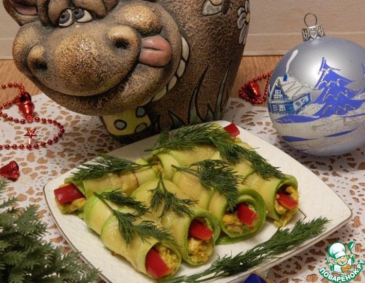 Рецепт: Закуска из кабачков с авокадо