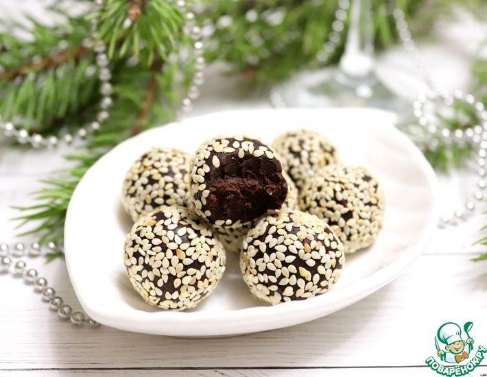 Рецепт: Шоколадные трюфели с авокадо и финиками