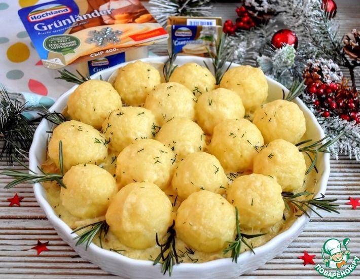 Рецепт: Куриное филе под картофельными шариками