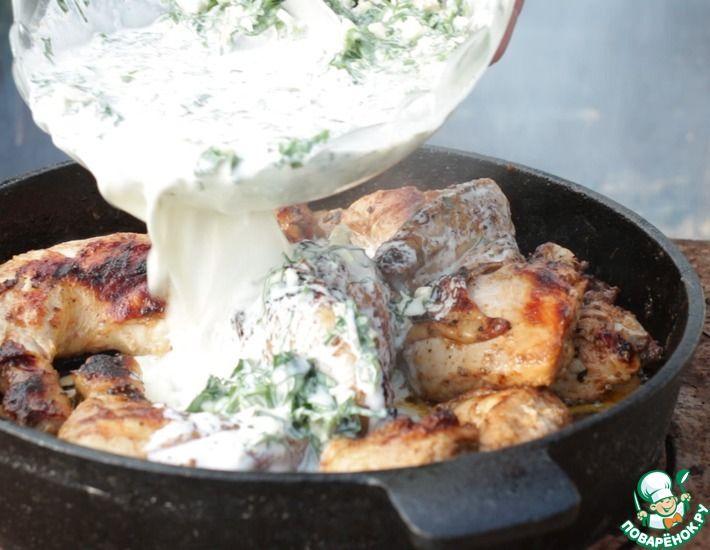 Рецепт: Шкмерули (чкмерули) из цыпленка