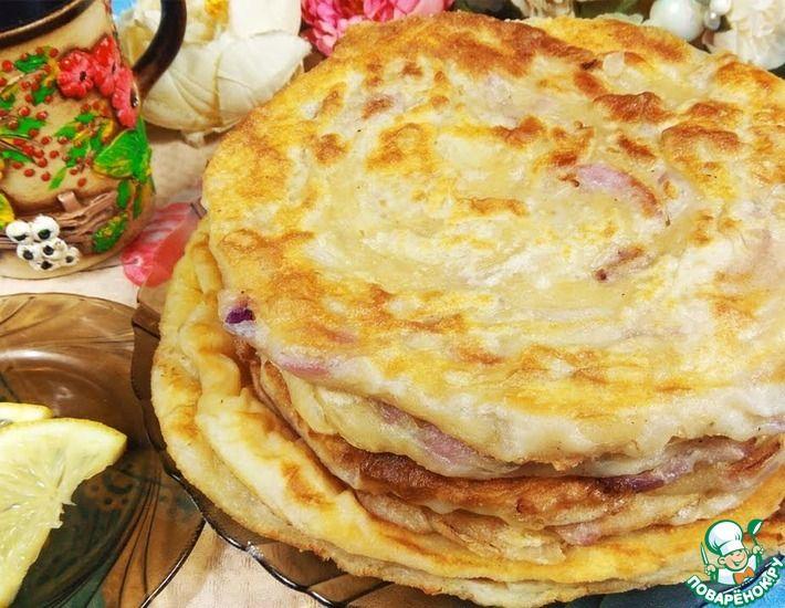 Рецепт: Узбекская лепешка со вкусом чебуреков