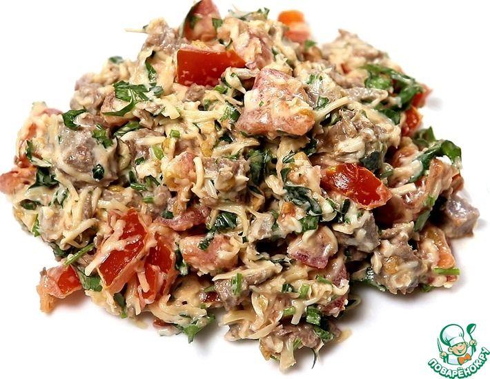 Рецепт: Салат Гусарский с говядиной