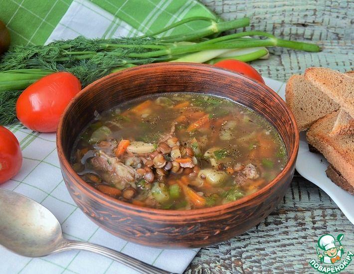 Рецепт: Чечевичный суп с говядиной