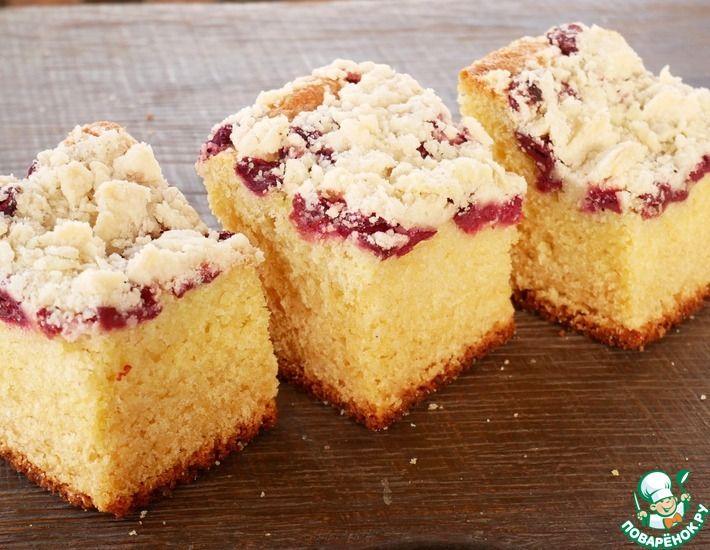 Рецепт: Дрожжевой пирог без замеса теста руками