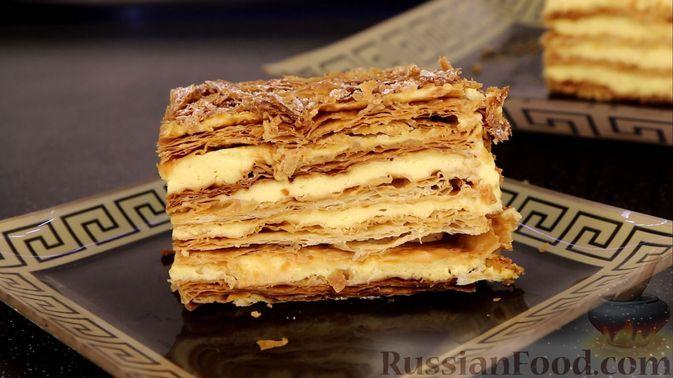 """Фото к рецепту: Хрустящий торт """"Наполеон"""""""