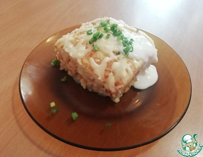 Рецепт: Картофельная запеканка с фаршем и сыром в духовке