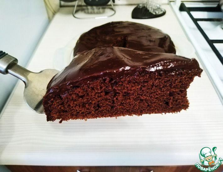 Рецепт: Шоколадный пирог-торт-Всё смешал и в духовку