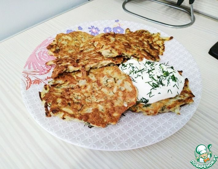 Рецепт: Самые простые капустные оладьи