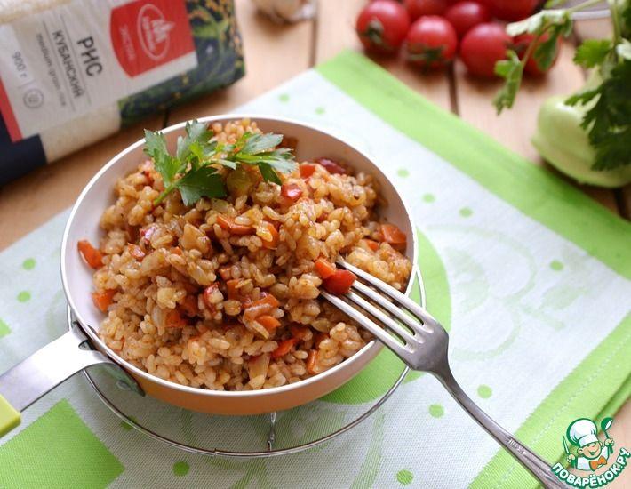 Рецепт: Рис с овощами на сковороде