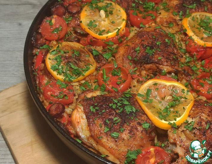 Рецепт: Вариация курицы по-испански