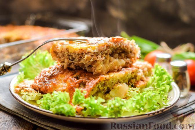 Фото к рецепту: Запеканка из гречки с рыбой